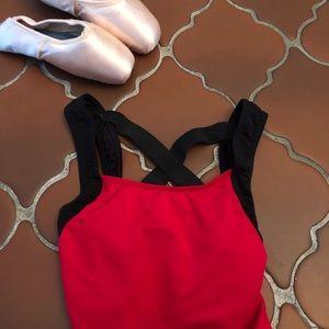 Natalie Dancewear | NWOT Red Mesh Leotard